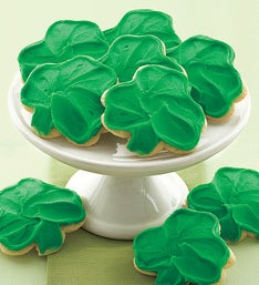 Cheryl's Frosted St Pat's Day Shamrock Cut-Outs