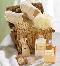 Honey Vanilla Spa Bath & Body Gift Basket