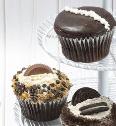 Little Whisk Chocolate Jumbo Filled Cupcakes