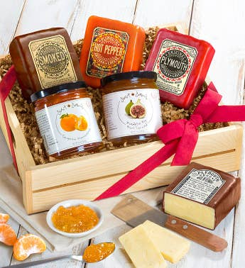 Plymouth Cheese & Just Jan's Spreads Gift Crate