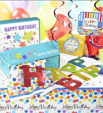 Birthday in a Box - Party Room Decorating Set