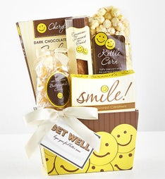 Sending Get Well Smiles Sweet Treats Gift Basket