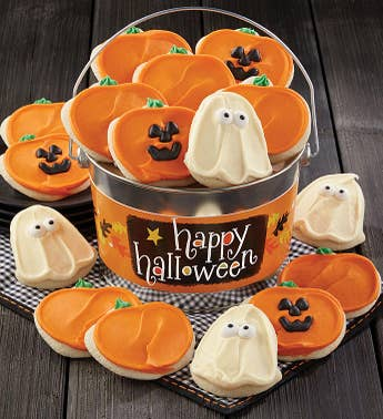 Cheryls Happy Halloween Buttercream Cookie Pail