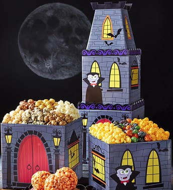 The Popcorn Factory Draculas Castle 3 Tier Tower