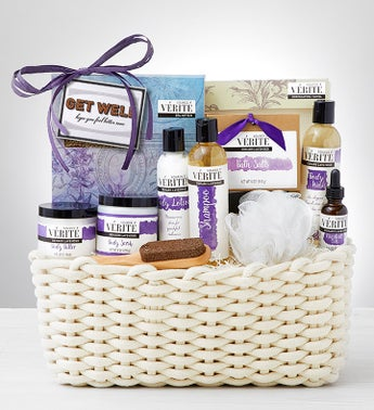 Feel Better Soon Denarii Lavender Spa Gift Basket