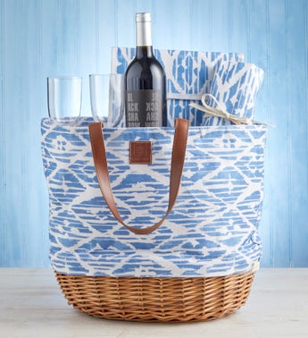 Moms Picnic Tote with Wine