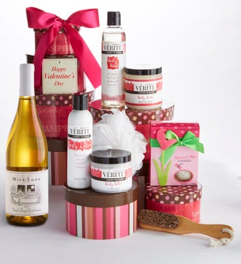 Pamper Her for Valentines Day Spa Tower with Wine