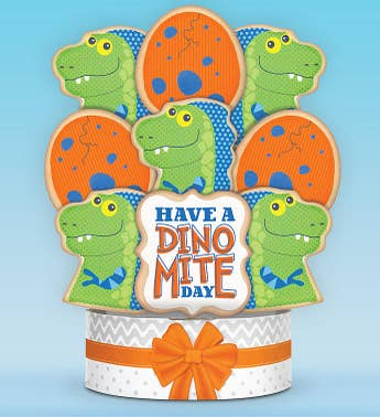 Have a Dino-Mite Day Cookie Arrangement