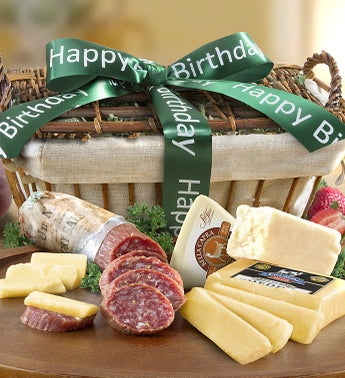 California Crafted Meat  Cheese Birthday Basket