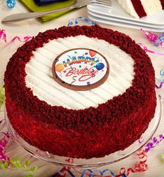 Juniors Happy Birthday Red Velvet Cheesecake