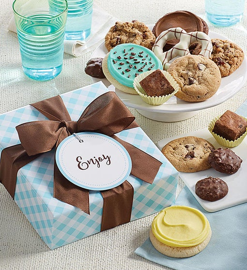 Cheryl's Treats Gift Box with Message Tag