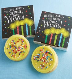More Candles Bigger Wish Cookie Card