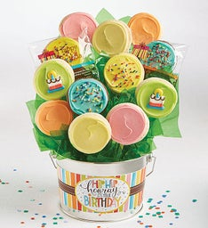 Hip Hip Hooray Birthday Cookie Flower Pot