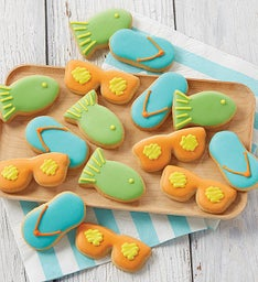Mini Beach Shortbread Cookies