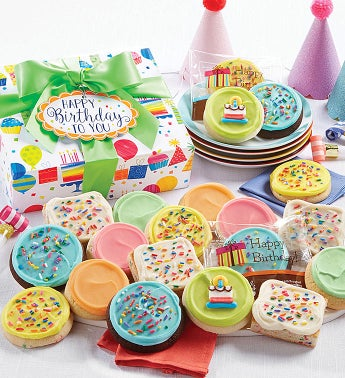 Buttercream Frosted Birthday Cookies and Brownies