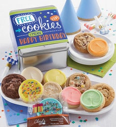 FREE COOKIES - I Mean It's Your Birthday Gift Tin