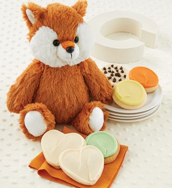 Welcome Baby Fox Plush Treats Gift