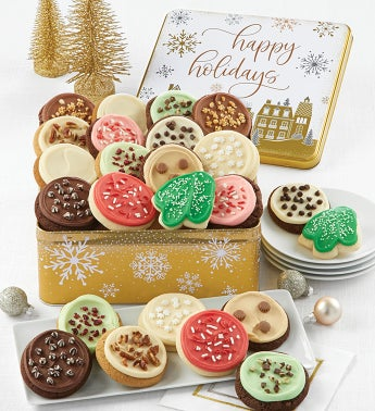 Premier Happy Holidays Gift Tin - Frosted