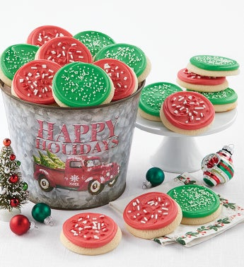 Christmas Tree Farm Cookie Pail