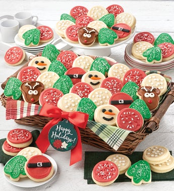 Buttercream Frosted Holiday Cookie Basket