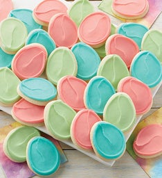 Buttercream Frosted Easter Egg Cut-out Cookies
