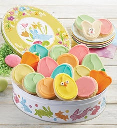 Easter Gift Tin with Frosted Cookies