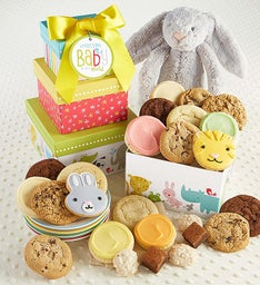 Welcome Baby Girl Gift Tower with Bunny