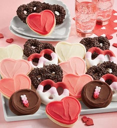 Valentine Pretzels and Buttercream Frosted Cookies
