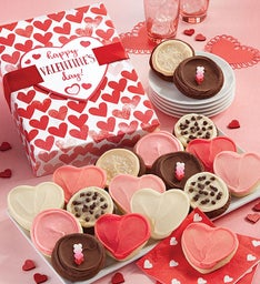 Buttercream Frosted Valentine Assorted Cookie Gift Box