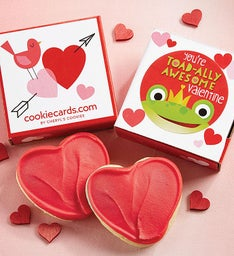 Toad-ally Awesome Valentine Cookie Card