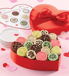 Satin Heart Cookie Gift Box