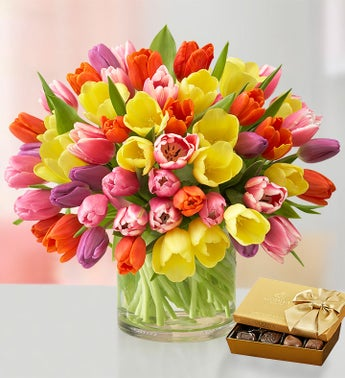 Deluxe Spring Assorted Tulip Bouquet