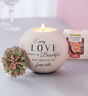 Love Story Candle and Yankee Candle Tealights