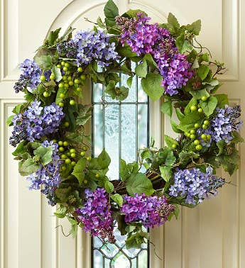Faux Lilac Wreath - 24