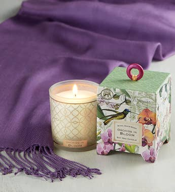 Orchid Yankee Candle with Pashmina Scarf