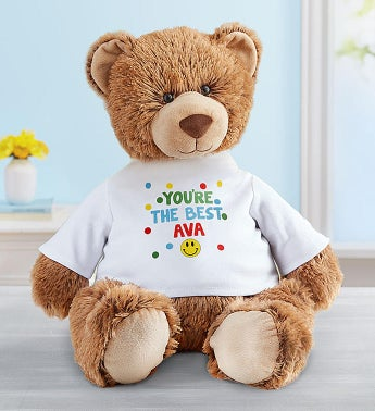 "Personalized Tommy Teddy™ ""Sending Smiles"""