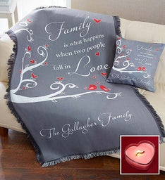 Personalized Fall in Love Pillow and Blanket