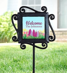 Personalized Spring Garden Stake