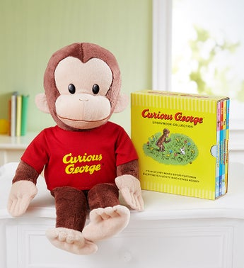 Gund Curious George and Story Book Collection