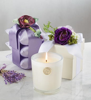 Lux Lavender Sachet And Candle