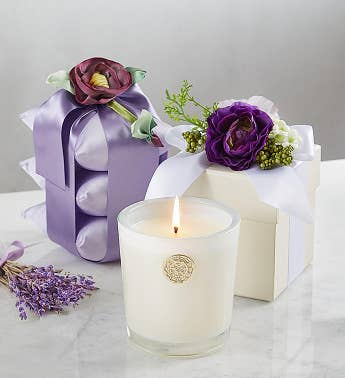 LUX Lavender Candle and Sachet Set