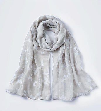 Grey Butterfly Scarf by Bayberry Road