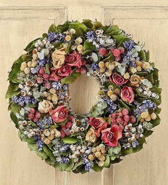 Preserved Rose Wreath-16