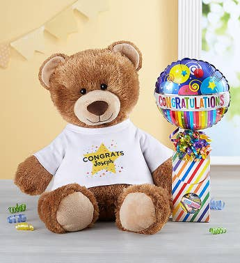 Personalized Tommy Teddy Congratulations