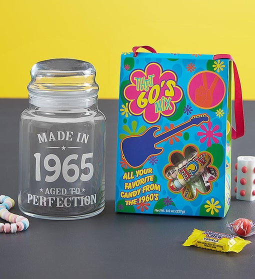 Personalized Decades Candy Jar & Candy