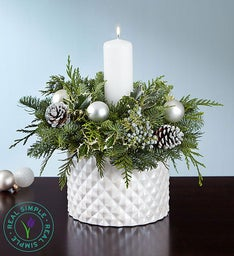 Real Simple® Winter White Centerpiece