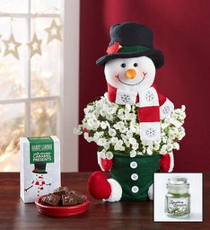 Frosty the Snow Plant + Free Candle