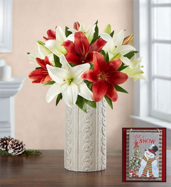Winter Warmth Lily Bouquet