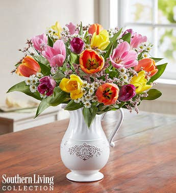 Fresh Spring Tulip Pitcher by Southern Living®