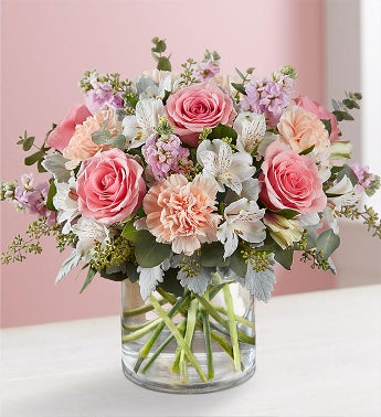 Blushing Blooms Bouquet